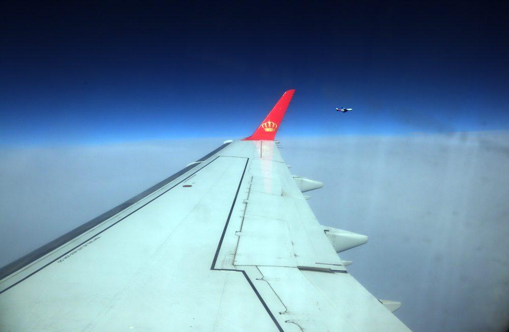 Αεροπλάνο των Royal Jordanian πάνω από τη Μεσόγειο/φωτό: Σπύρος Τσακίρης